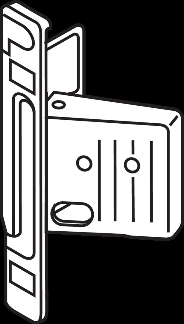 Anschrauben f Blum Clip-Frontbefestigung rechts z 320/330 M/H/K-Zarge ZSF.1200